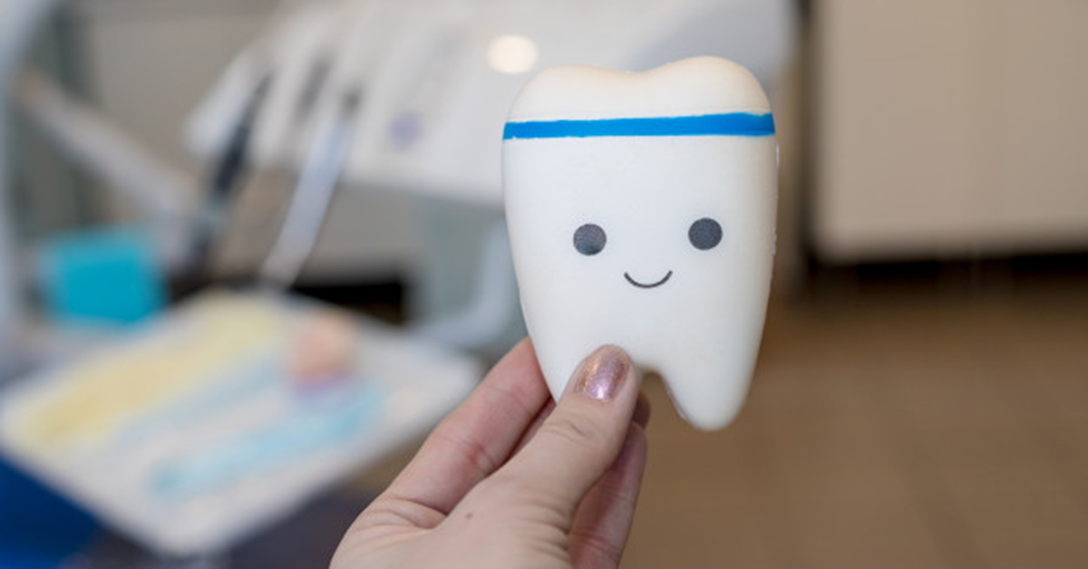 Tooth with a dental crown