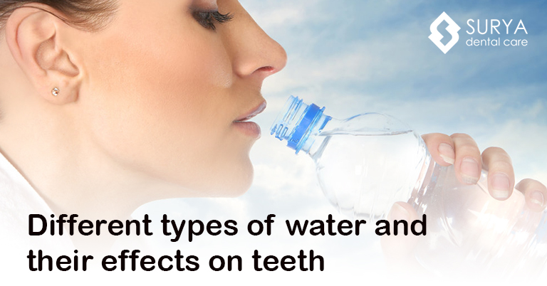 Different types of water and their effects on teeth