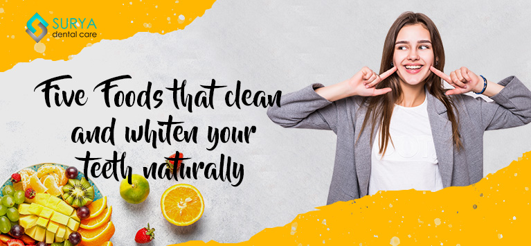 Topic Five foods that clean and whiten your teeth naturally